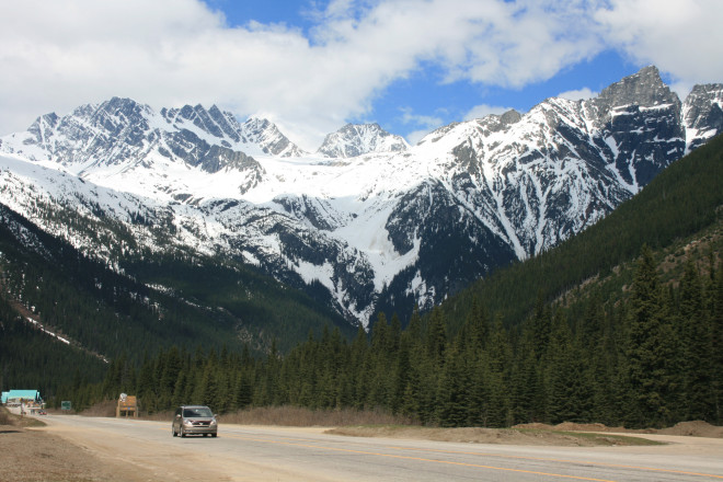 Highway 1 at Rogers Pass
