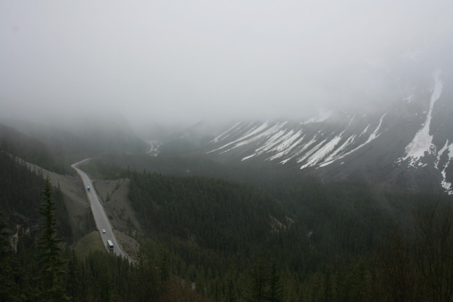 The Icefields Parkway. Well... just clouds and a road really.