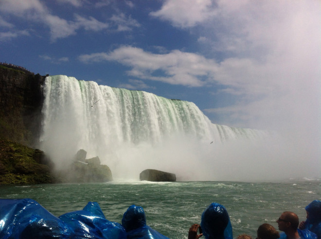 From The Maid of the Mist - the force of the water was really impressive
