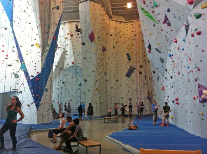 Indoor climbing at Allez Up