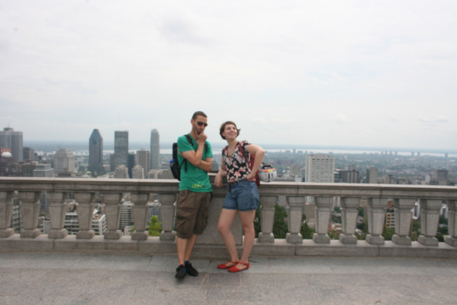 With Isabelle at the Mount Royal lookout