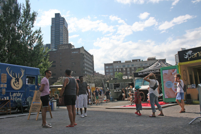 Food trucks at the Just For Laughs comedy festival