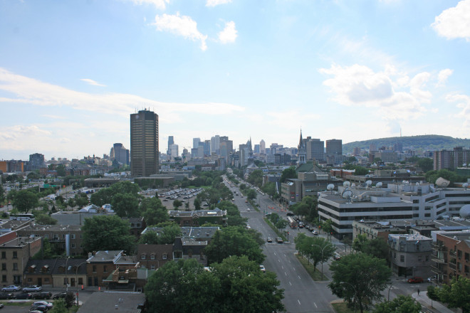 Views of Montreal from the Jacques Cartier Bridge
