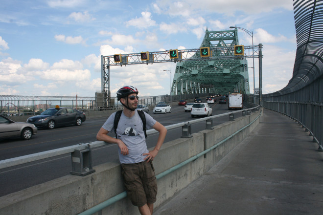 Hanging out on the Jacques Cartier Bridge