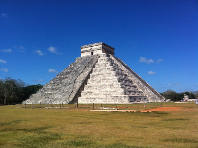 The main temple at Chichen-Itza