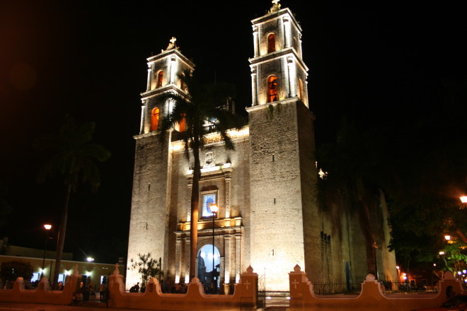Night church - Valladolid, Yucatán