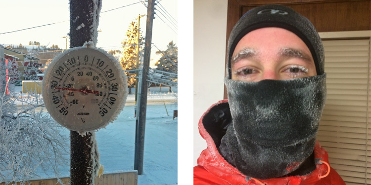 Face ice after a 4km run at -30 something celcius
