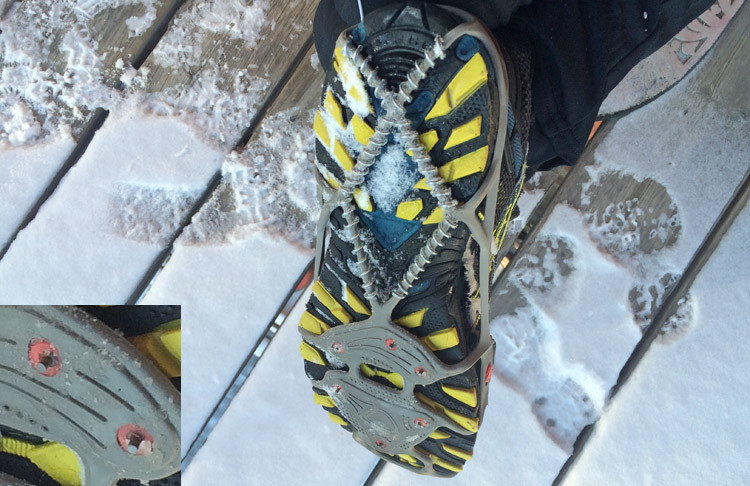 Yaktrax add coils and spikes to the bottom of your shoes