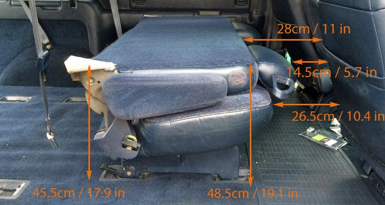 GMC Safari / Astro Van Interior Measurements for Minivan Camper Conversion
