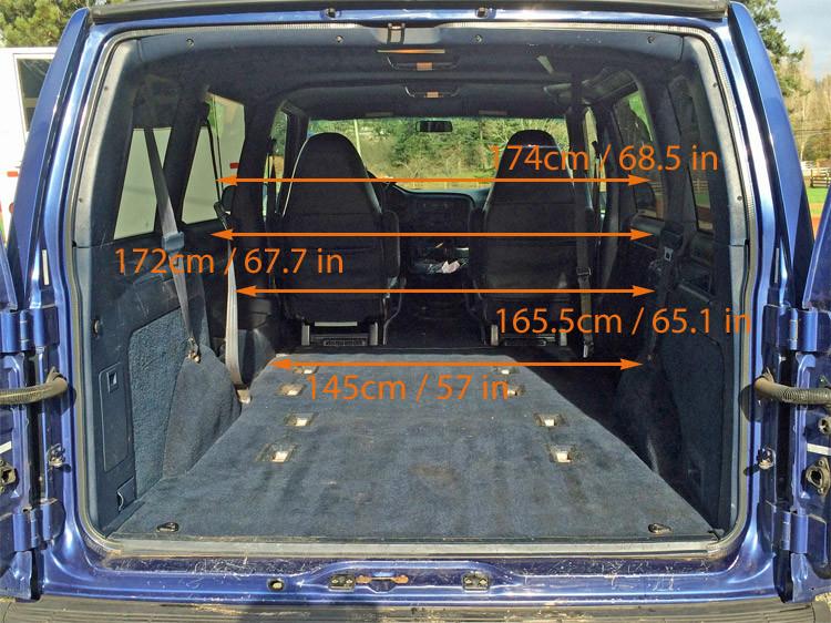 gmc safari astro van interior measurements for minivan camper conversion morehawes. Black Bedroom Furniture Sets. Home Design Ideas