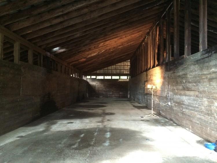 The barn ready to go