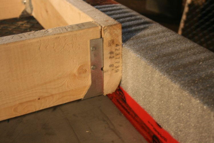 Showing the foam underlay which prevents the metal and wood touching