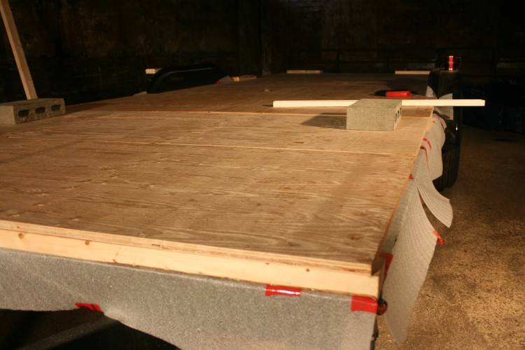 Getting the plywood subfloor cut to size
