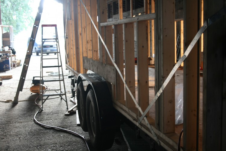 Adding strapping to the walls