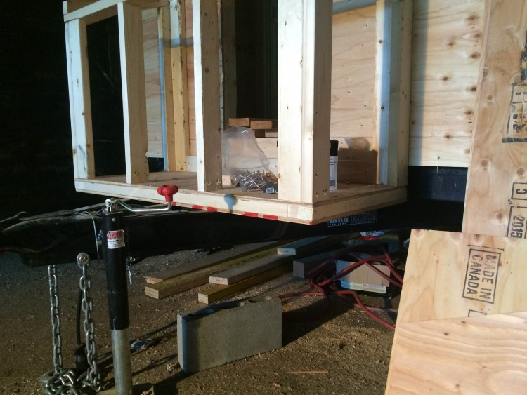 Finishing the utility box framing