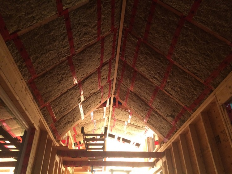Roof insulation making the house feel much more houselike