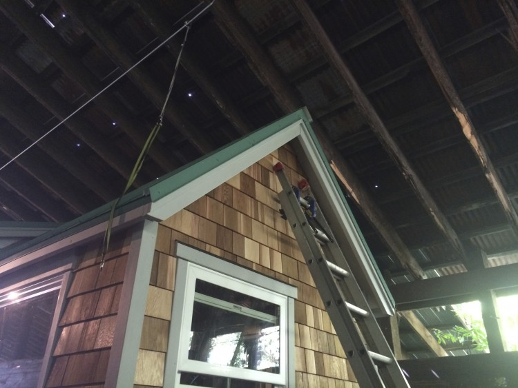 Gable flashing installed
