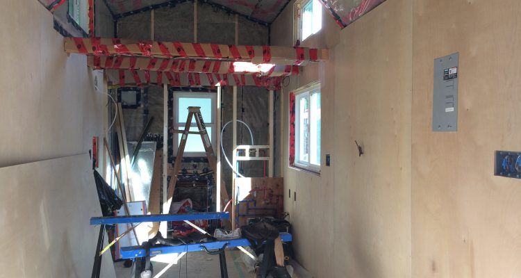 Tiny House Construction:  Vapour Barrier, Interior Walls and a Loft
