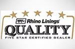 Rhino lining quality five star certified dealer