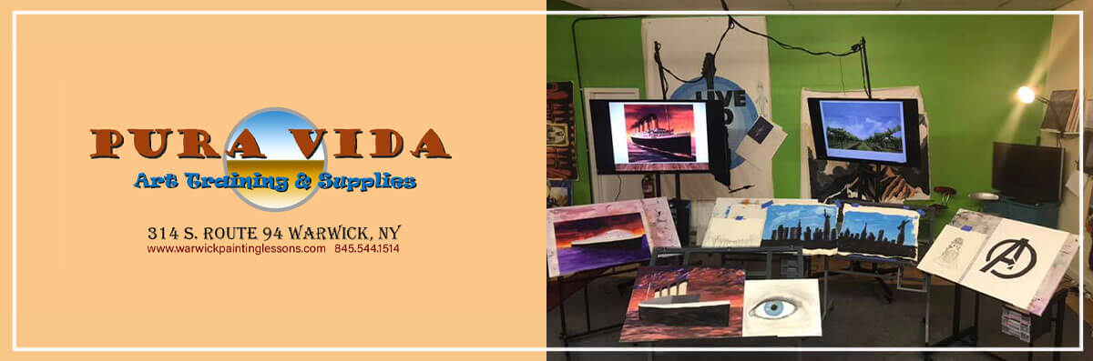 Pura Vida Art Training & Supplies is an Art School and Art Supplies Store in Warwick, NY