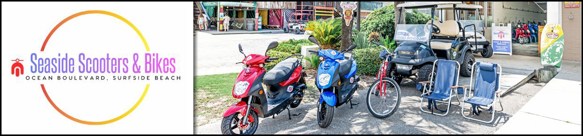 Seaside Scooters & Bikes is a Beach and Scooter Rental Company in Surfside Beach, SC
