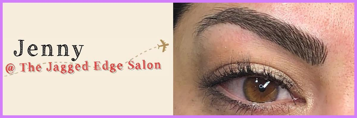 Jenny Brows @ the Jagged Edge Salon Does Microblading in Pflugerville, TX