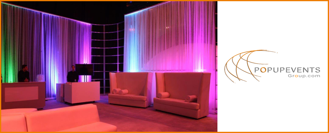 pOpUpEventsgroup Offers pOmpOm Curtains at Miami, FL