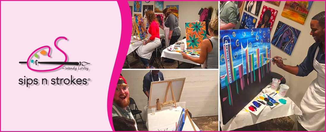 Sips N Strokes Is A Wine And Painting Studio In Nashville Tn