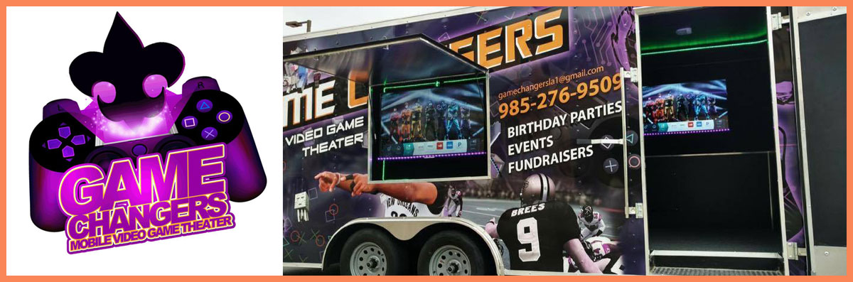 Game Changers Mobile Video Game Theater Offers a Mobile Gaming Trailer in Covington, LA