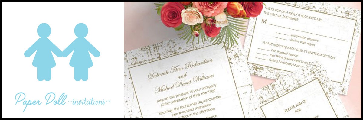 Paper Doll Invitations Specializes in Wedding Printed Materials in Carlsbad. CA