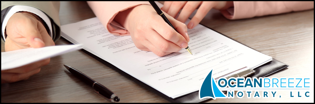 Ocean Breeze Notary, LLC Does Legal Document Signing in Marina del Rey, CA