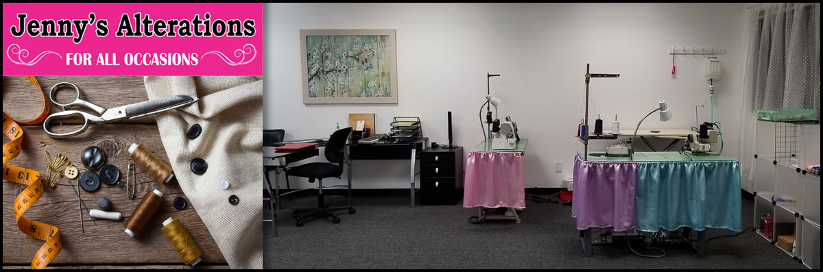 """Jenny's Alterations """"For All Occasions"""" Mending Service in Fontana, CA"""