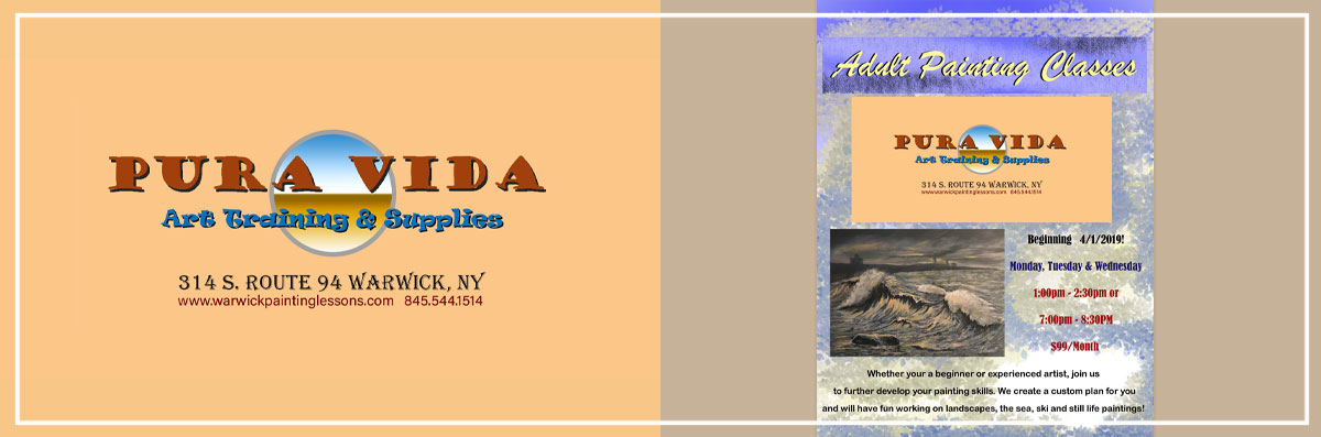 Pura Vida Art Training & Supplies Offers Adult Painting Classes in Warwick, NY