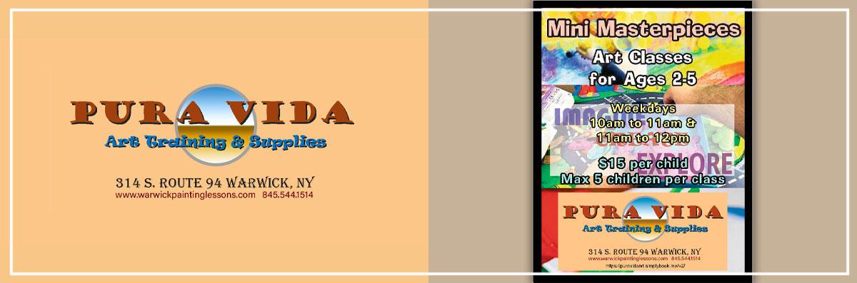 Pura Vida Art Training & Supplies Has Mini Masterpiece Classes in Warwick, NY