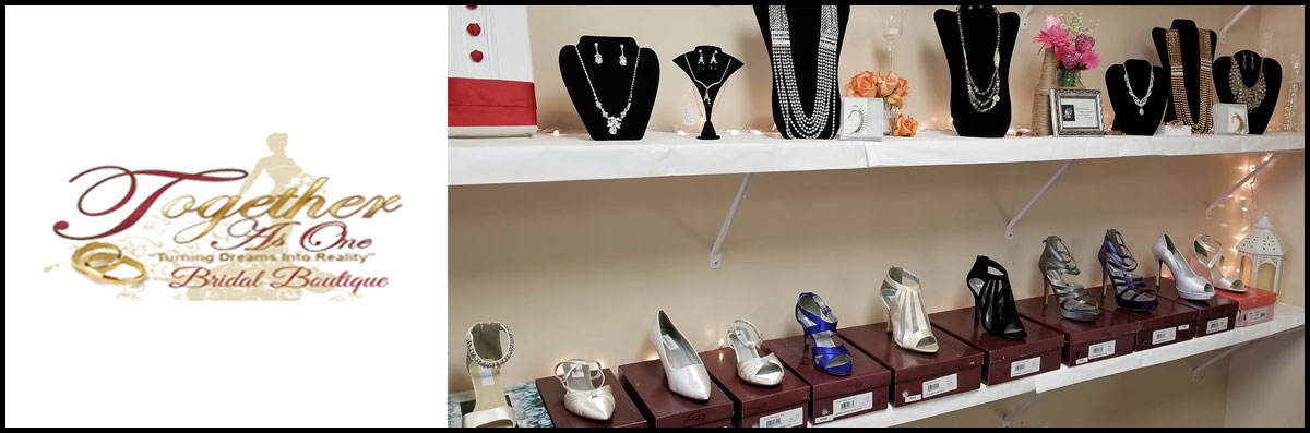 Together As One Bridal Boutique  Provides Bridal Accessories for Fayetteville, NC