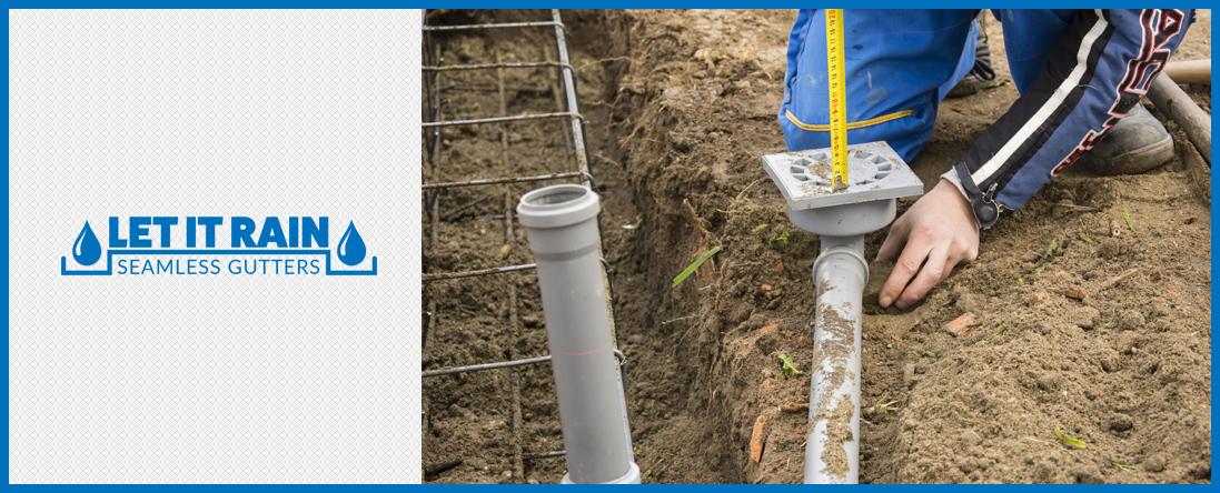 Let it Rain Seamless Gutters offers Underground Drains in Largo, FL