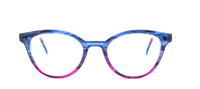Blue Purple Smoke Grey Gradient