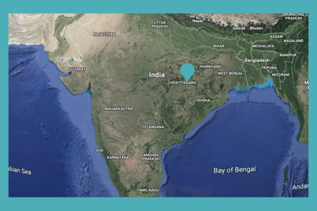 Location of the Hasdeo Forest in Chattisgarh