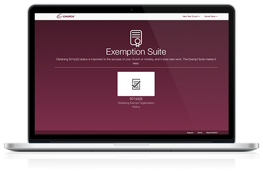 Exemption Suite on a Macbook