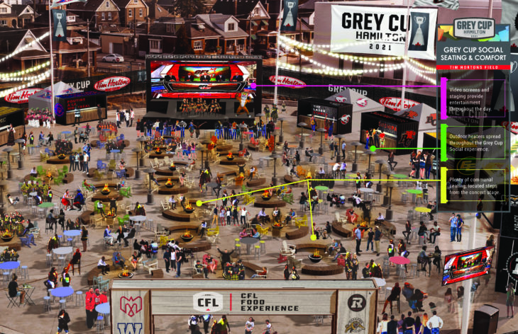 8. Grey Cup Social Seating and Comfort