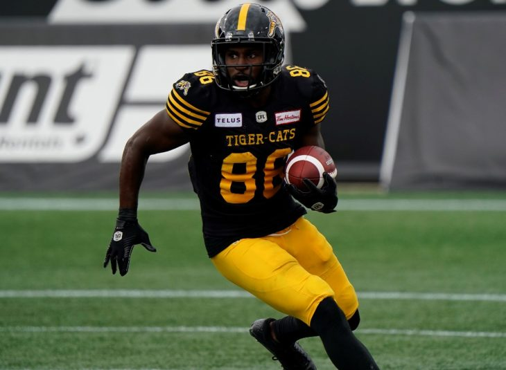 Sept 2, 2019; Hamilton, Ontario, CAN; Hamilton Tiger-Cat defeat the Toronto Argonauts 38-27 in the Labour Day Classic at Tim Hortons Field. Mandatory Credit: John E. Sokolowski