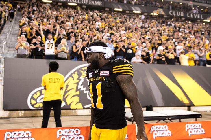 HAMILTON, ON - SEP 3, 2018: Canadian Football League game between the Hamilton Tiger Cats and the Toronto Argonuats, (Photo by Ryan McCullough / Hamilton Tiger Cats)