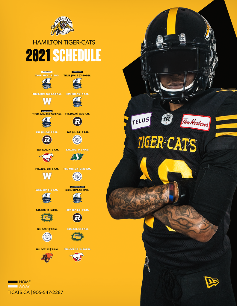 2021 Tiger-Cats Schedule
