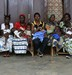 Zimbabwe Women and Children waiting for their health check at solar panel hospital