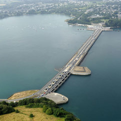 The Rance Tidal Barrage in North West France is 750m long and the largest in the world