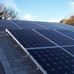 PV solar panels on school roof