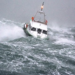 fishermen boat and the perils at sea