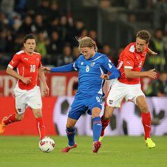 Austria vs Iceland football match, Birkir Bjarnason