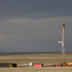 A fracking rig in Colorado: More than 90 per cent of the wells in Colorado are in extremely high water-stress regions, say Ceres.