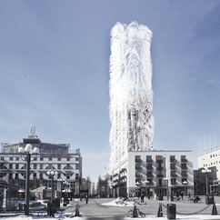 The Strawscraper has been designed by Belatchew Labs Architecture and uses 'straws' to harvest wind power.